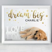 Personalised Rachael Hale Dream Big White Framed Poster Print P0512AA22